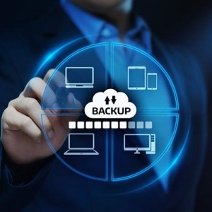 This picture shows a data backup graphic
