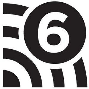 This is a graphic of the WiFi 6 icon